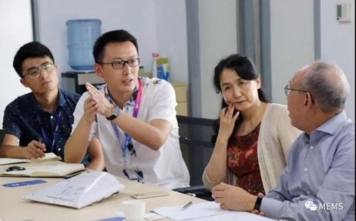 林振宇处长与各产业线工程师探讨技术的应用