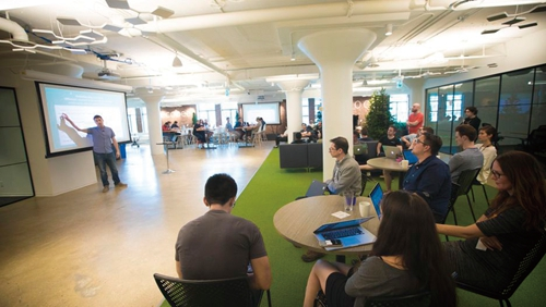 在Ecobee HQ总部的午后头脑风暴