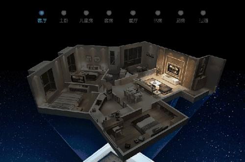 智能灯光控制系统模拟图