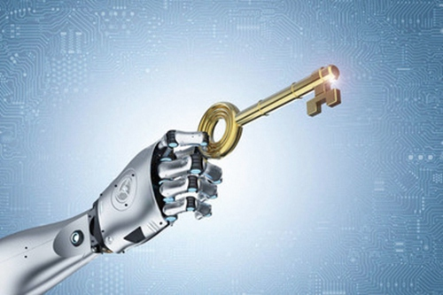 robot unlock with key