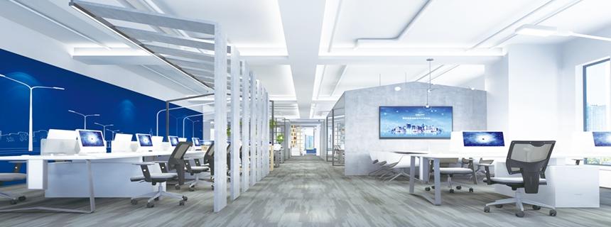 智能与办公的完美结合,南京龙腾照明智能化办公室方案