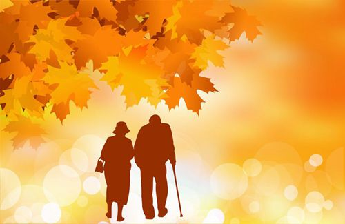 46751203 - golden age, senior couple in autumn