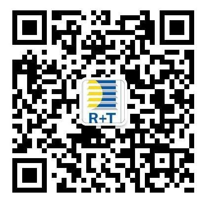 扫描二维码,关注R+T官方微信